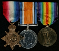 John White : (L to R) 1914-15 Star; British War Medal; Allied Victory Medal