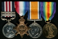 Fred Whittaker : (L to R) Military Medal and 2 Bars; 1914-15 Star; British War Medal; Allied Victory Medal