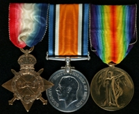 John William Wild : (L to R) 1914-15 Star; British War Medal; Allied Victory Medal