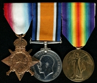 Edward Williams : (L to R) 1914-15 Star; British War Medal; Allied Victory Medal