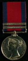 Owen Ward : Military General Service Medal with clasps 'Guadaloupe', 'Martinique'