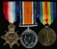 Henry Yond : (L to R) 1914-15 Star; British War Medal; Allied Victory Medal